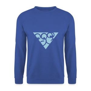 Dreieck Pulli (Blau) - Männer Pullover