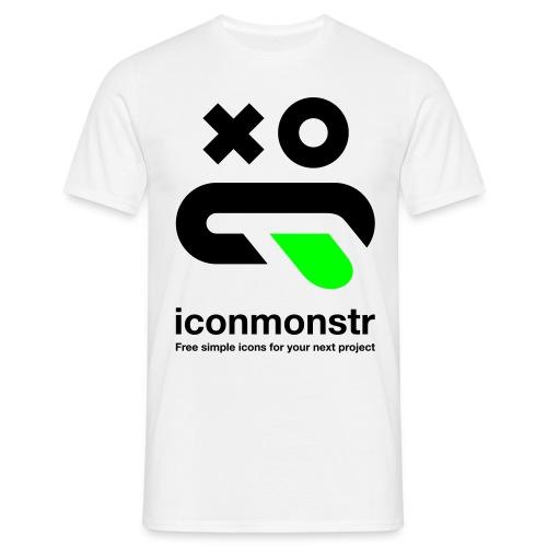Logo / Men - White - Men's T-Shirt