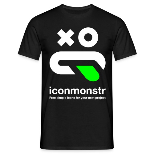 Logo / Men - Black - Men's T-Shirt