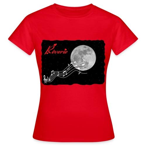 TS ROUGE FEMME REVERIE - T-shirt Femme