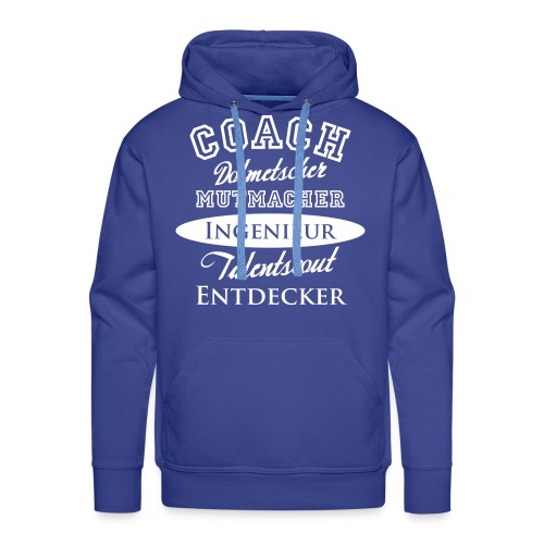 Herren-Hoody Motiv Coach - Männer Premium Hoodie