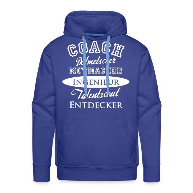 Herren-Hoody Motiv Coach