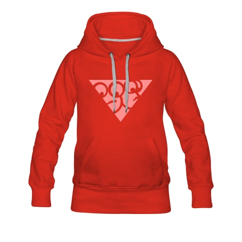 Kapuzenpullover in Rot (Girls) - Frauen Premium Hoodie