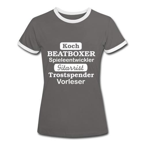 Frauen Kontrast-Shirt Motiv Beatboxer - Frauen Kontrast-T-Shirt