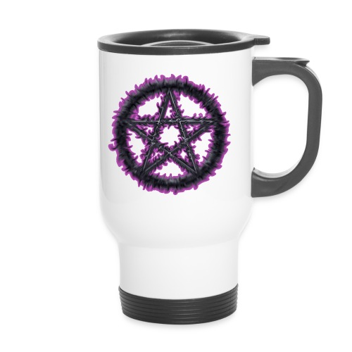 Spiky Purple Pentacle - Travel Mug