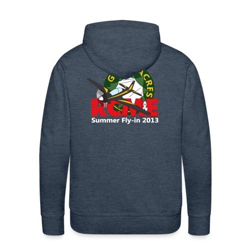 Greenacres RCM&E 2013 Fly-in hoodie - logo on the back - Men's Premium Hoodie