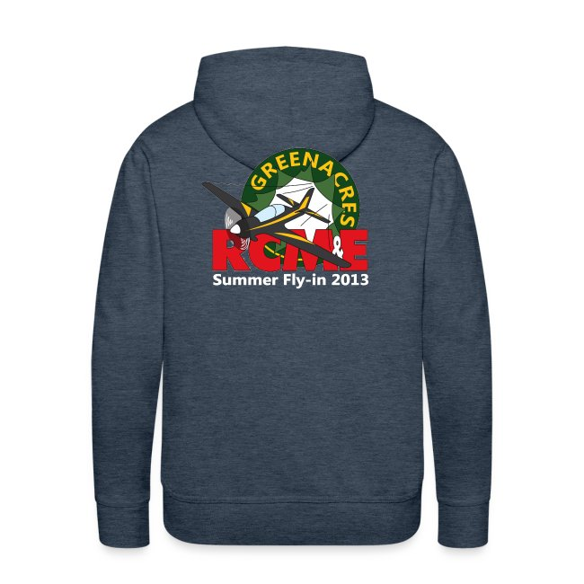 Greenacres RCM&E 2013 Fly-in hoodie - logo on the back