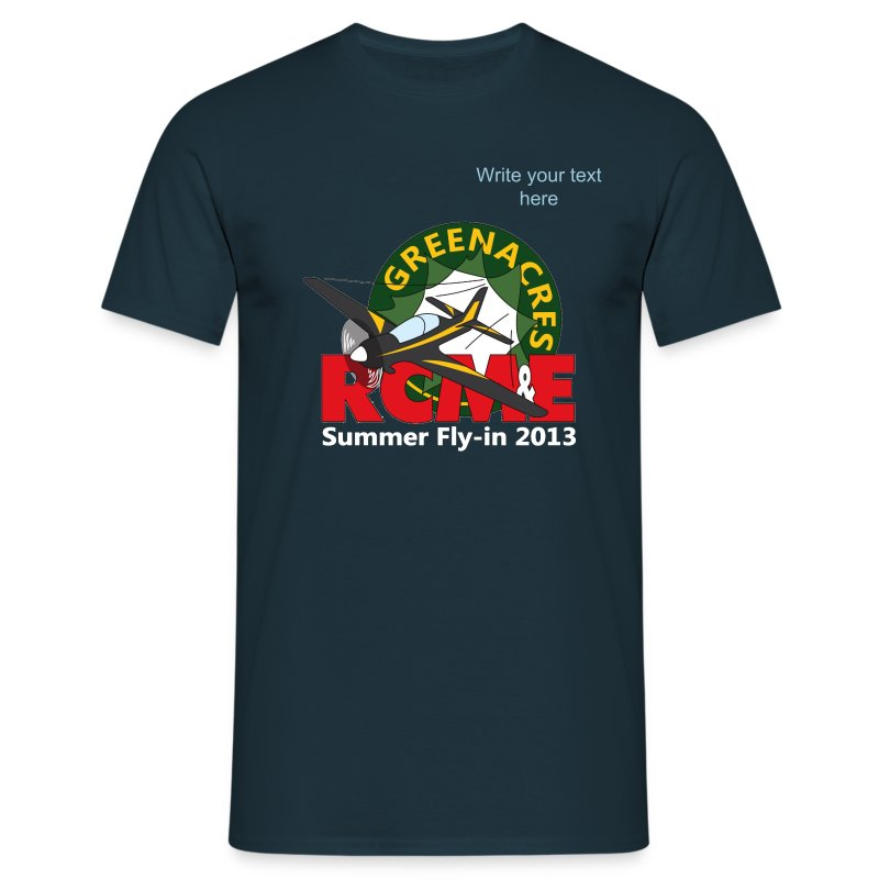 Greenacres RCM&E 2013 Fly-in T shirt with custom text  - Men's T-Shirt