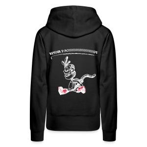 Babouche d'acide femme - Sweat-shirt à capuche Premium pour femmes