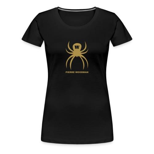 Gold PW-Spider, Women's T-Shirt, black, F/B - Women's Premium T-Shirt