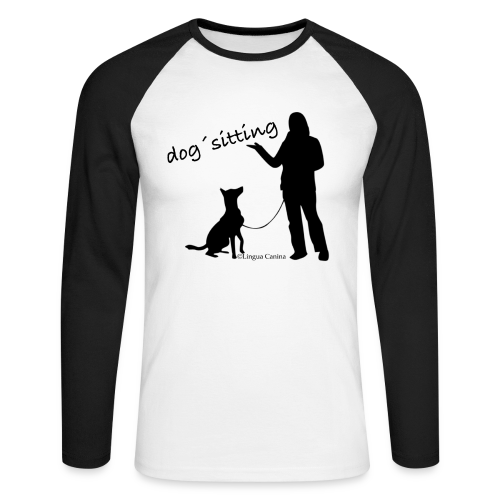 dog sitting - langarm Shirt, Herren - Männer Baseballshirt langarm