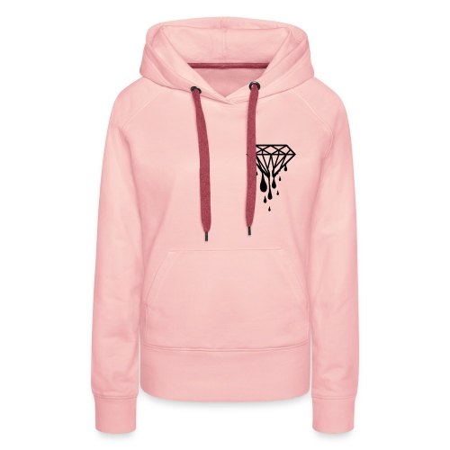 Womens Diamond Hoody  - Women's Premium Hoodie