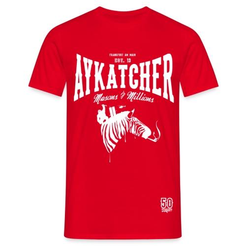 AYKATCHER  RED ZEBRA - Männer T-Shirt