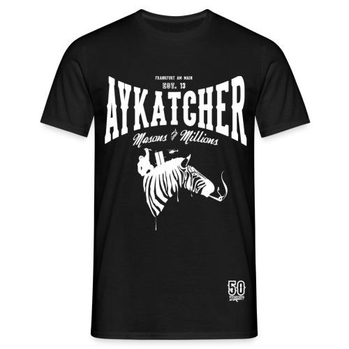 AYKATCHER BLACK ZEBRA - Männer T-Shirt
