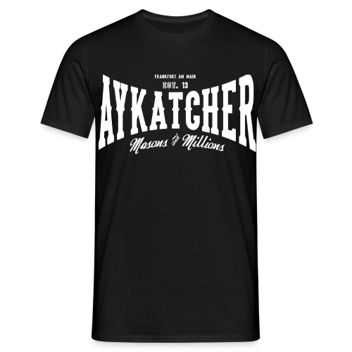 AYKATCHER BASIC BLACK - Männer T-Shirt