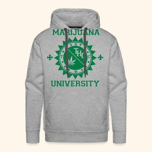 marijuana university Sweatshirt - Sweat-shirt à capuche Premium pour hommes