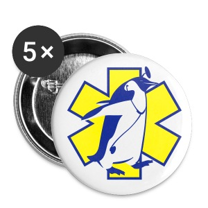Pingouin Ambulancier  - Badge moyen 32 mm