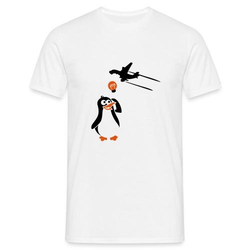 Pinguin mit Ideen - Männer T-Shirt