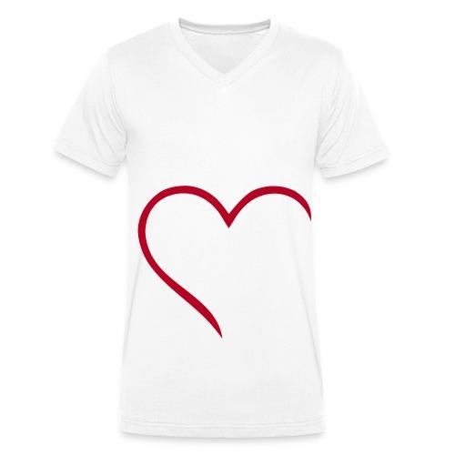 V-Herz - Männer Bio-T-Shirt mit V-Ausschnitt von Stanley & Stella