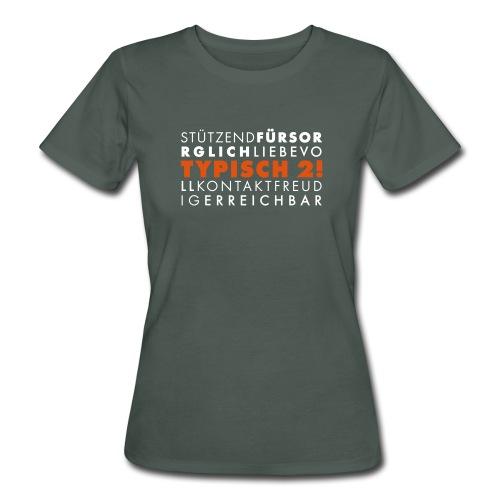 Typisch 2! Helferin zweifarbig **bio** - Frauen Bio-T-Shirt