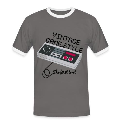 T-SHIRT VINTAGE GAME STYLE HOMME BICOLOR - T-shirt contrasté Homme