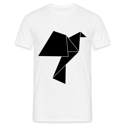 Origami bird - Männer T-Shirt