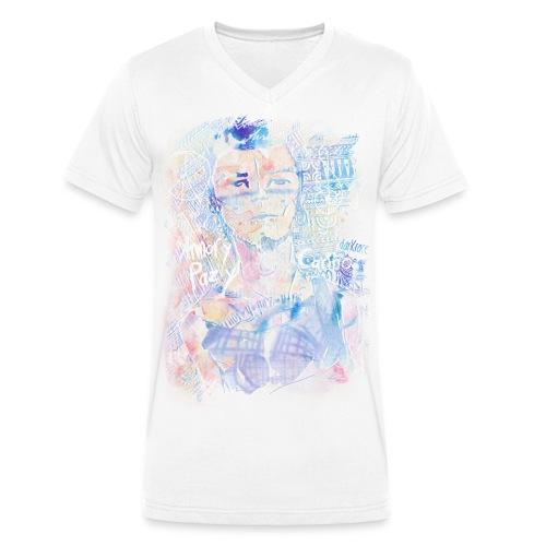 ARMOR-PAZ-CARINO bunt - Guys - Männer Bio-T-Shirt mit V-Ausschnitt von Stanley & Stella