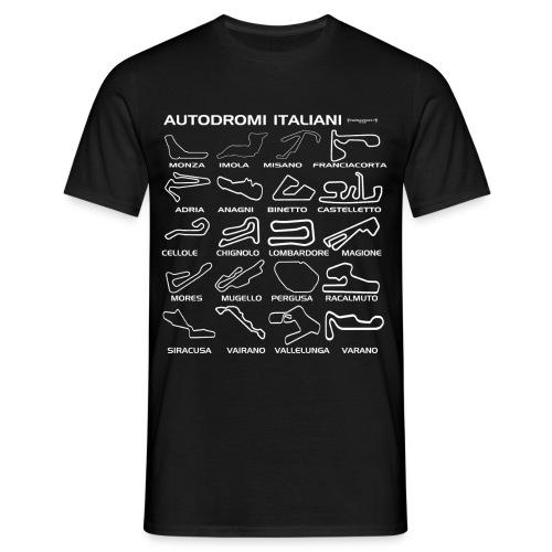 T-shirt autodromi italiani bianco - Maglietta da uomo