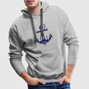 Anchor & Sacred Rose, Symbol Hope, Faith & Love Hoodies & Sweatshirts - Men's Premium Hoodie