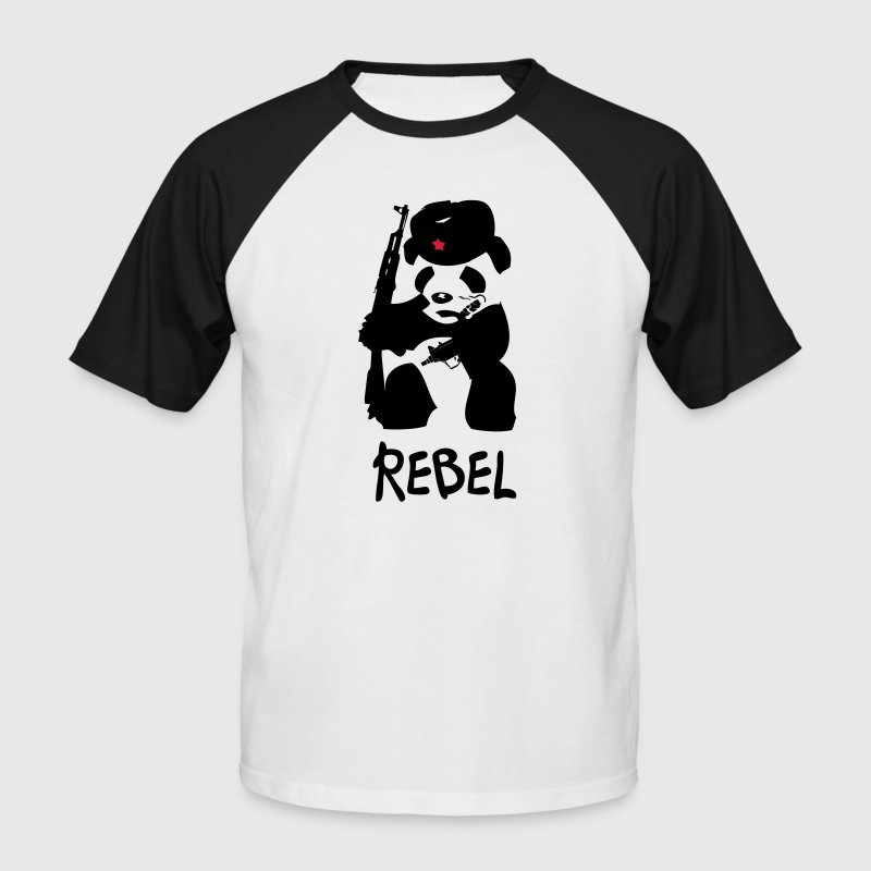 Rebel Panda - Men's Baseball T-Shirt