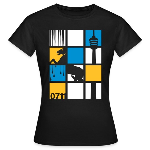 0711 SQUARES - Frauen T-Shirt