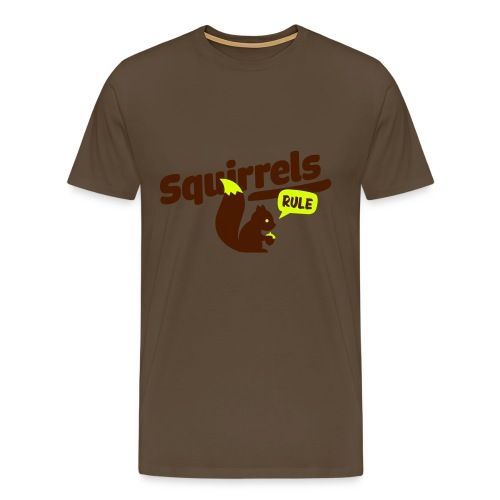 Squirrels rule T-Shirt Mens - Men's Premium T-Shirt
