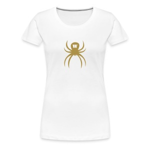 Gold Spider, Women's T-Shirt, white, F/B - Women's Premium T-Shirt