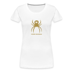 Gold PW-Spider, Women's T-Shirt, white, F/B - Women's Premium T-Shirt