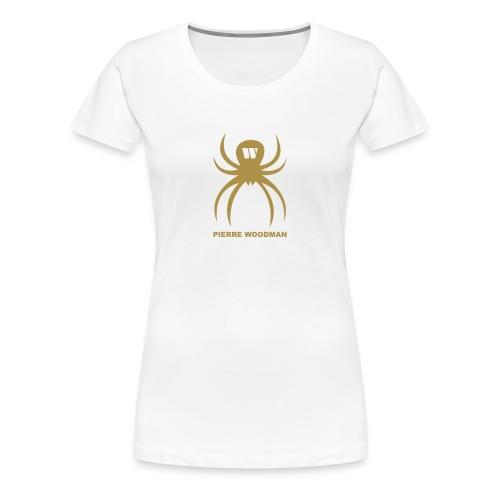 Gold PW-Spider, Women's T-Shirt, white, F/B - Women's Premium T-Shirt