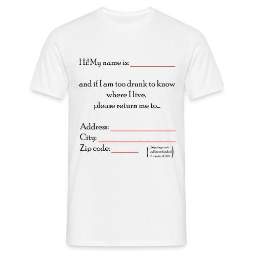 Rispeditemi a casa - Maglietta da uomo