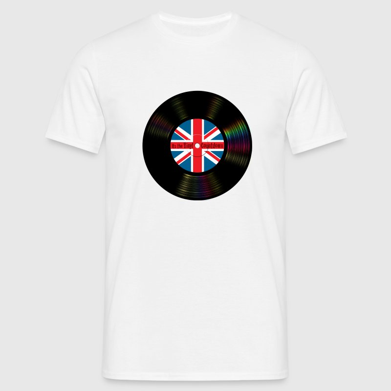 Brit Pop Vinyl Countdown - Men's T-Shirt