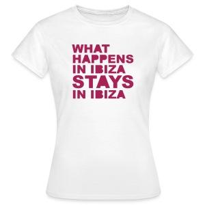 GIBOriginals 'What Happens In Ibiza Stays In Ibiza' Women's Tee - Women's T-Shirt