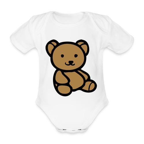 beer romper - Baby bio-rompertje met korte mouwen