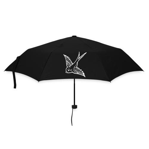 tier t-shirt schwalbe swallow vogel bird wings flügel retro - Regenschirm (klein)