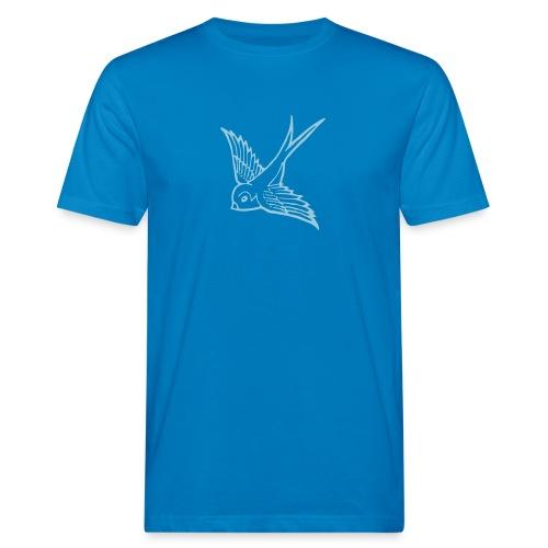 tier t-shirt schwalbe swallow vogel bird wings flügel retro - Männer Bio-T-Shirt