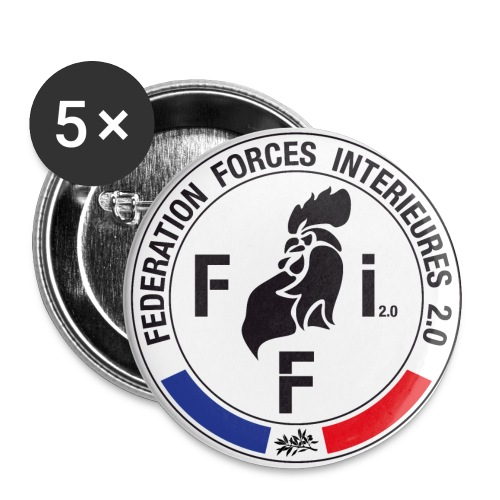 BADGES ffi coq - Badge moyen 32 mm