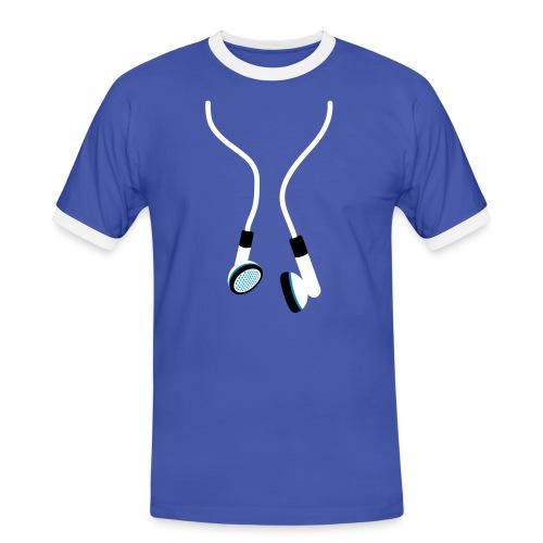 D.F Recordz Contrast Shirt - Mannen contrastshirt