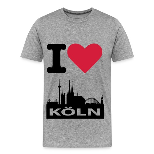 I LOVE KÖLN - grau - Männer Premium T-Shirt