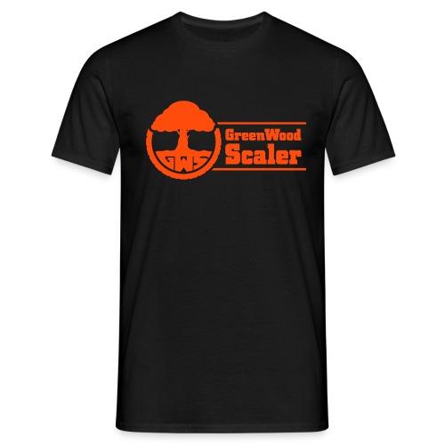 Shirt schwarz / Logo neonorange - Männer T-Shirt