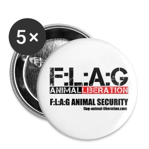 F-L-A-G | Button F:L:A:G ANIMAL LIBERATION | 32mm - Buttons mittel 32 mm