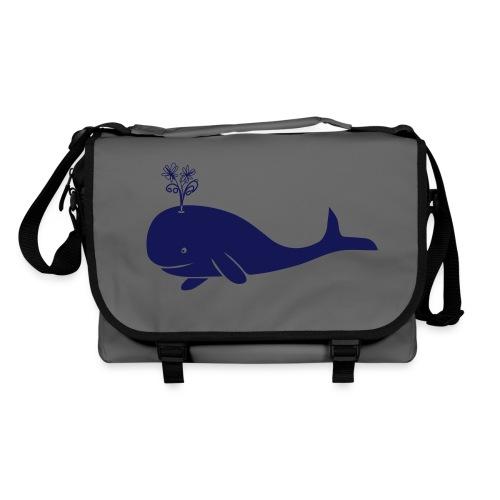 tier t-shirt wal whale delphin walfisch blauwal hai blume T-Shirts - Umhängetasche