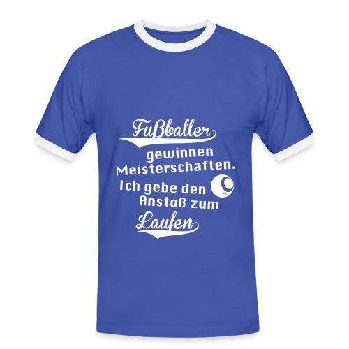 Herren-Kontrast-Shirt Motiv David Image - Männer Kontrast-T-Shirt