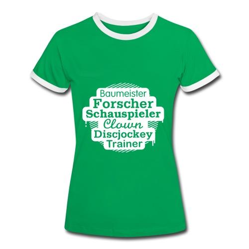 Frauen Kontrast-Shirt Motiv Baumeister - Frauen Kontrast-T-Shirt