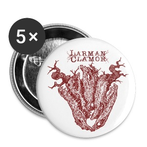 Larman Clamor Alligator Heart - Buttons small 25 mm